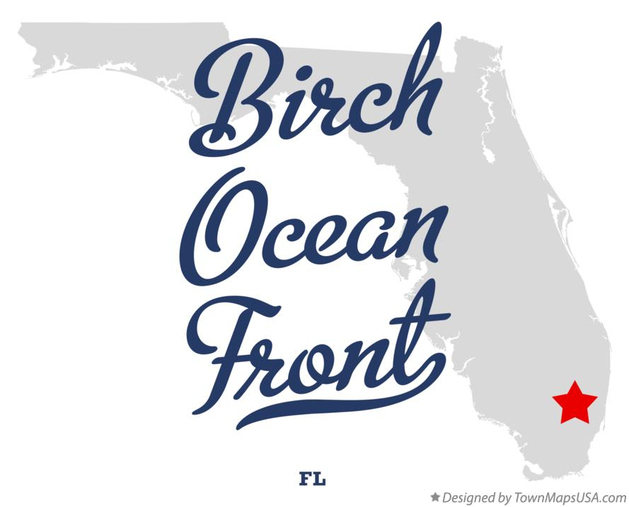 Map of Birch Ocean Front Florida FL