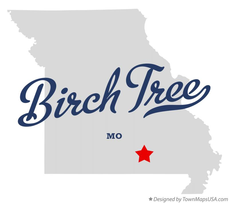 Map of Birch Tree Missouri MO