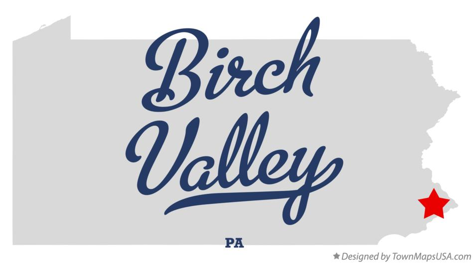 Map of Birch Valley Pennsylvania PA