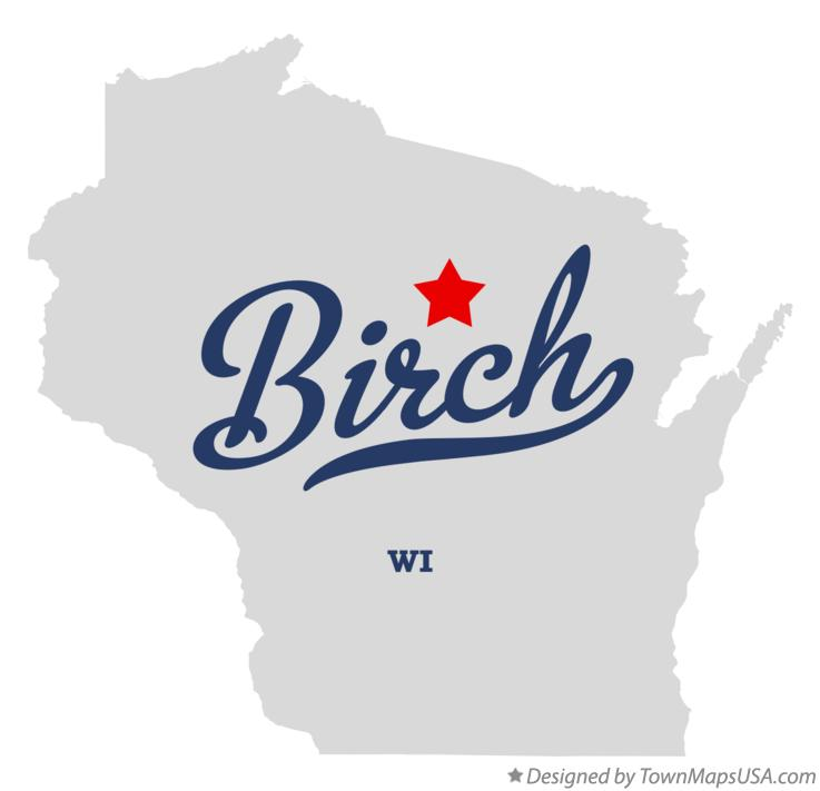 Map of Birch Wisconsin WI