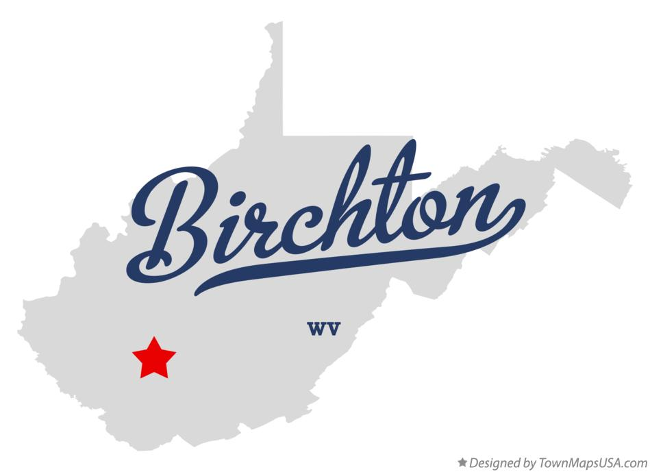 Map of Birchton West Virginia WV