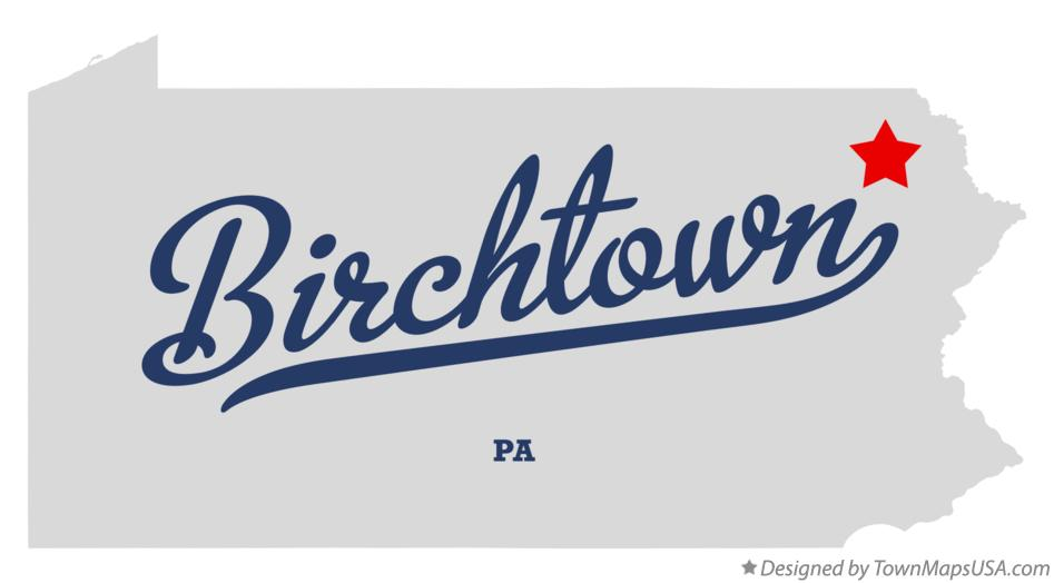 Map of Birchtown Pennsylvania PA