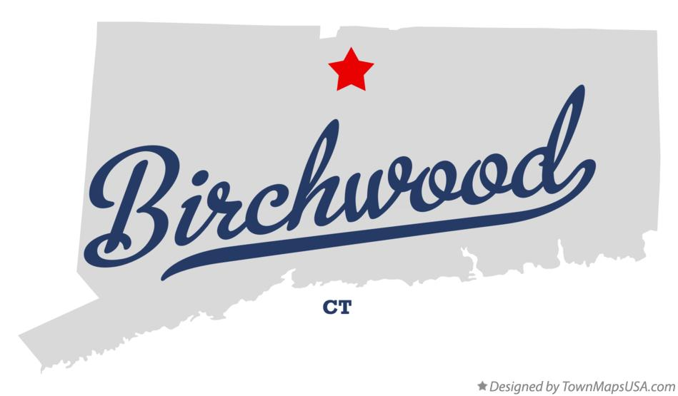 Map of Birchwood Connecticut CT