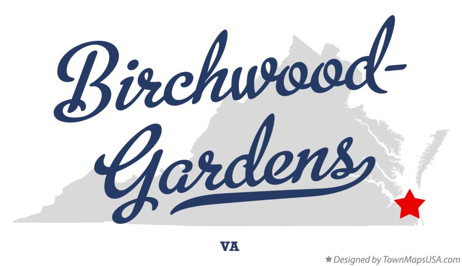 Map of Birchwood-Gardens Virginia VA