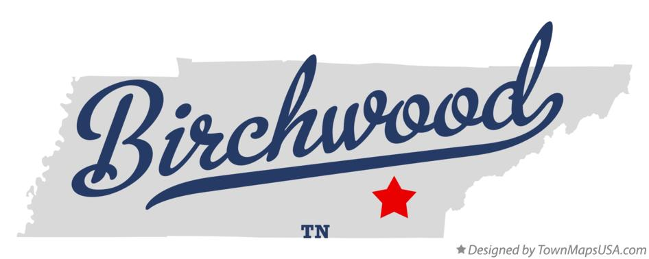 Map of Birchwood Tennessee TN