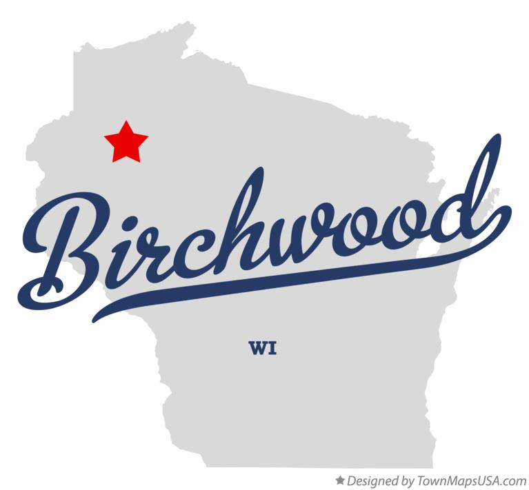 Map of Birchwood Wisconsin WI