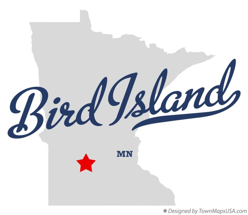 Map of Bird Island Minnesota MN