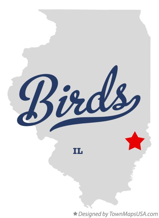 Map of Birds Illinois IL