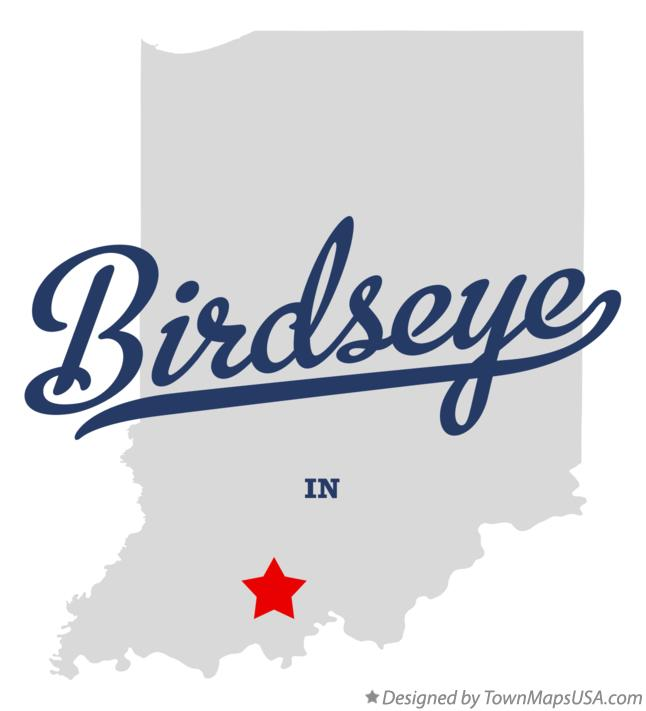 Map of Birdseye Indiana IN