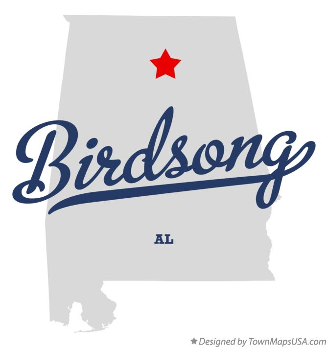 Map of Birdsong Alabama AL
