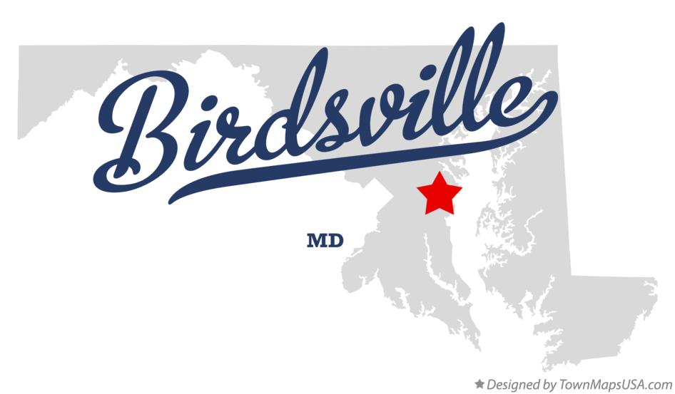 Map of Birdsville Maryland MD