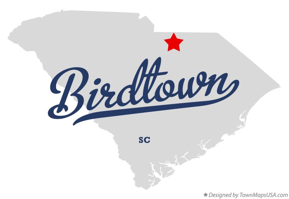 Map of Birdtown South Carolina SC