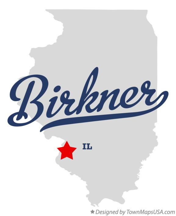 Map of Birkner Illinois IL
