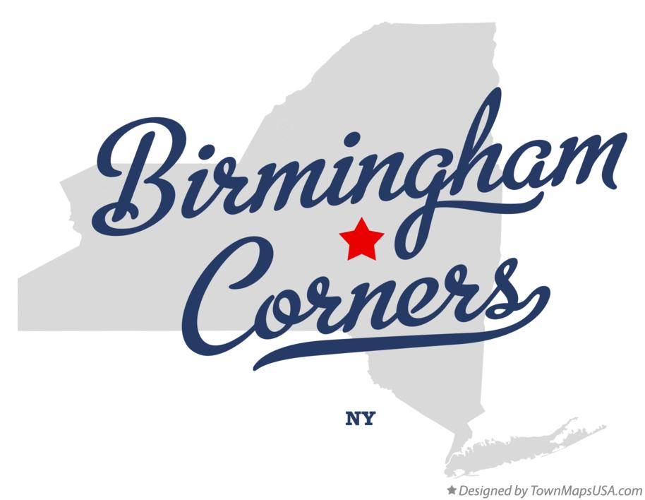 Map of Birmingham Corners New York NY