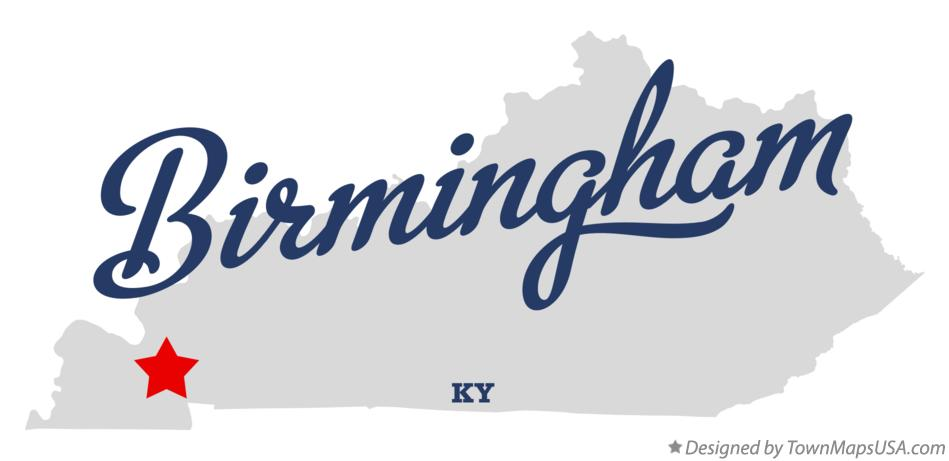 Map of Birmingham Kentucky KY