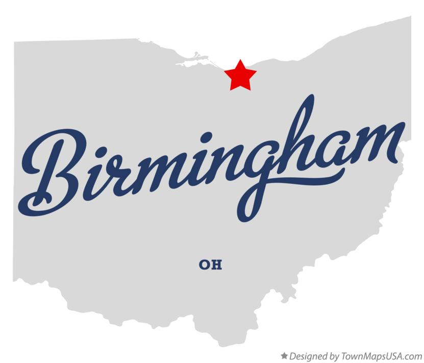Map of Birmingham Ohio OH