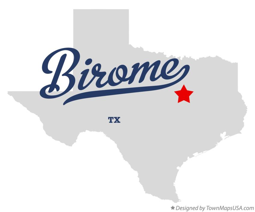 Map of Birome Texas TX