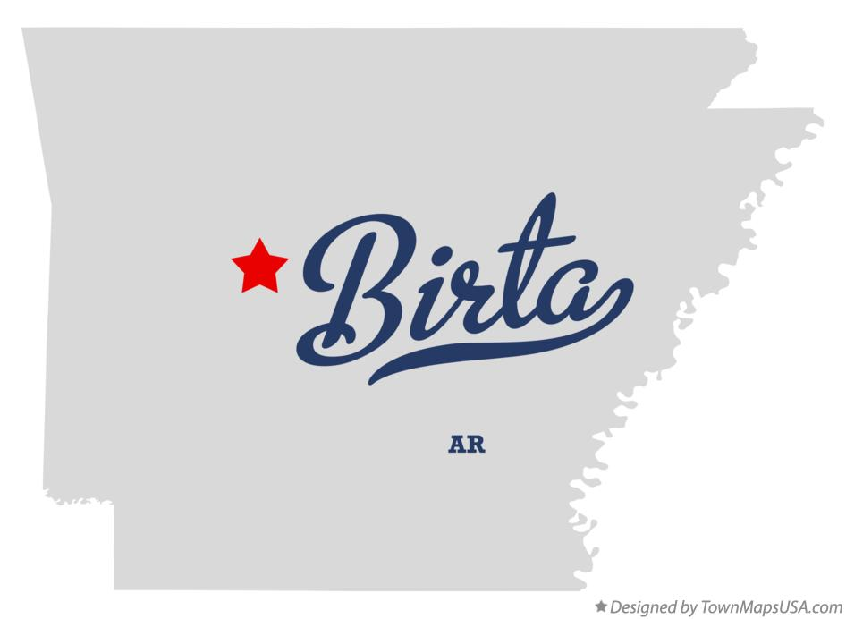 Map of Birta Arkansas AR