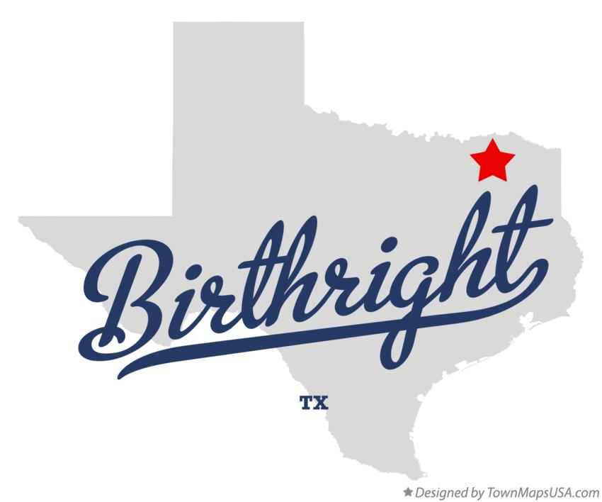 Map of Birthright Texas TX