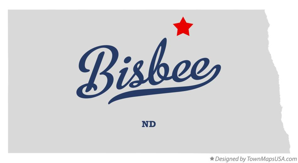 Map of Bisbee North Dakota ND
