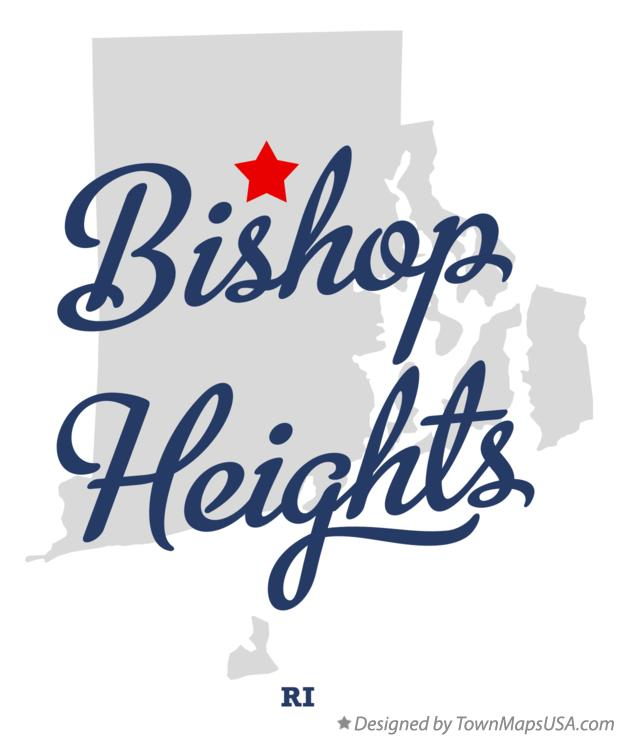Map of Bishop Heights Rhode Island RI