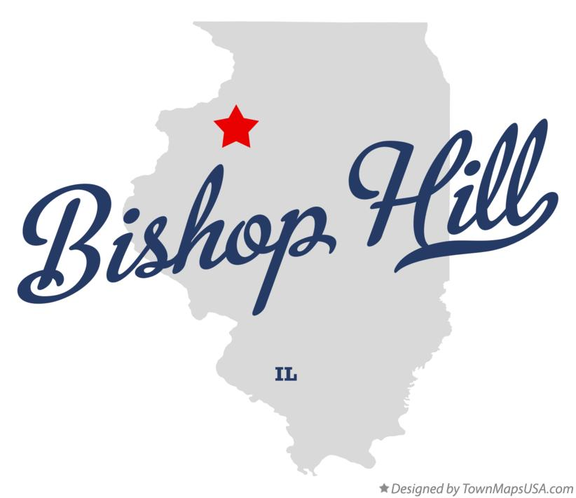 Map of Bishop Hill Illinois IL
