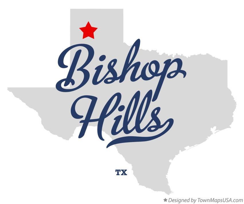 Map of Bishop Hills Texas TX