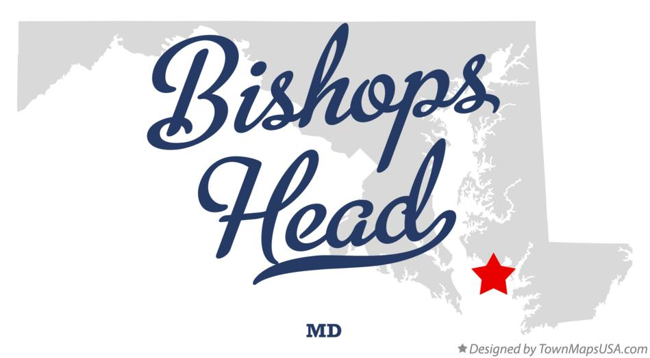 Map of Bishops Head Maryland MD