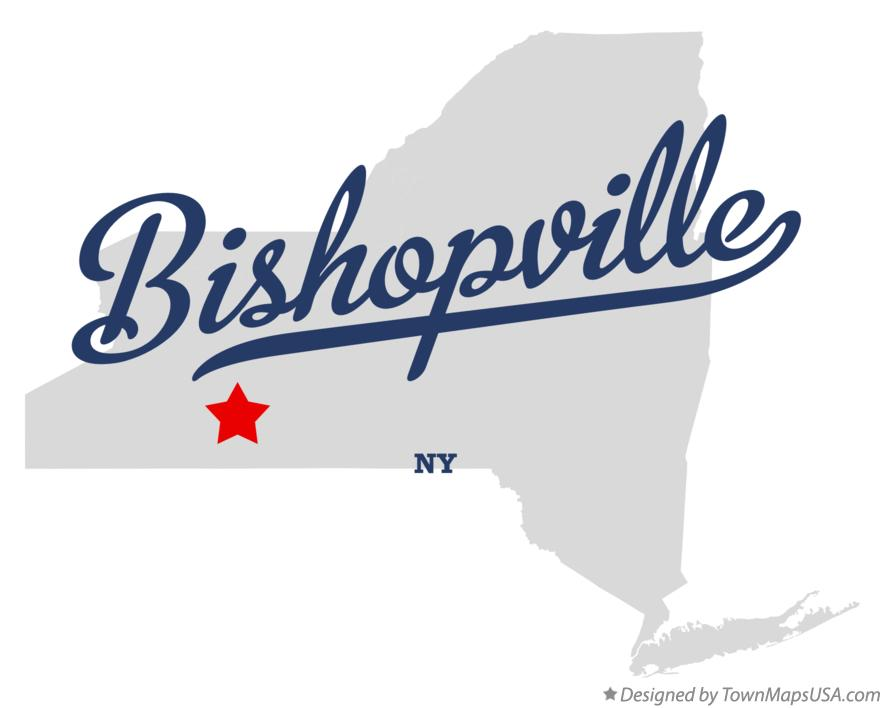Map of Bishopville New York NY