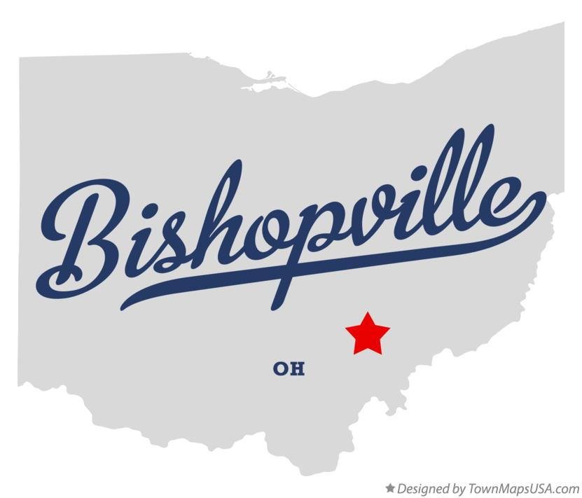 Map of Bishopville Ohio OH