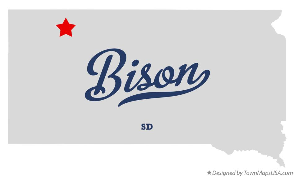 Map of Bison South Dakota SD