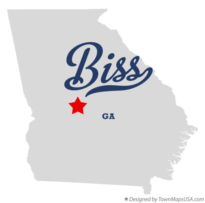 Map of Biss Georgia GA