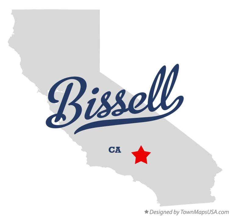 Map of Bissell California CA