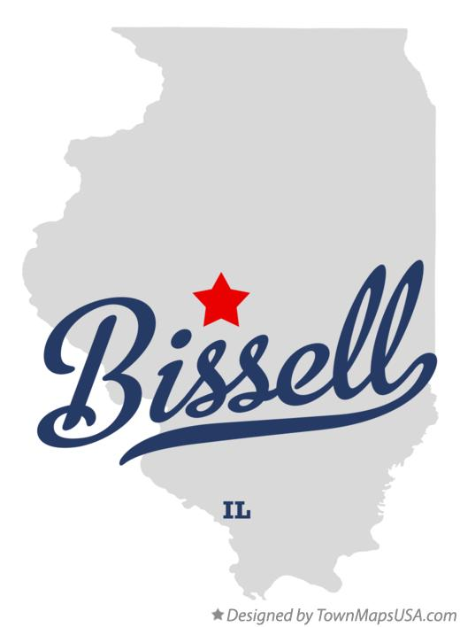 Map of Bissell Illinois IL