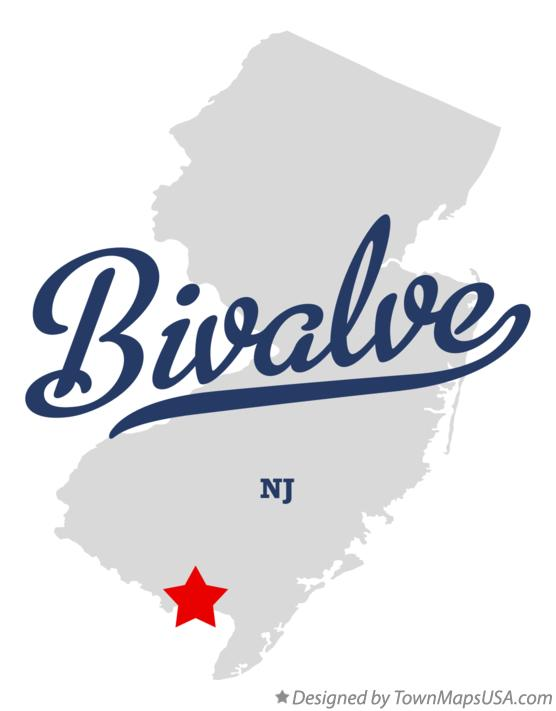 Map of Bivalve New Jersey NJ