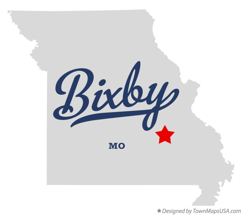 Map of Bixby Missouri MO