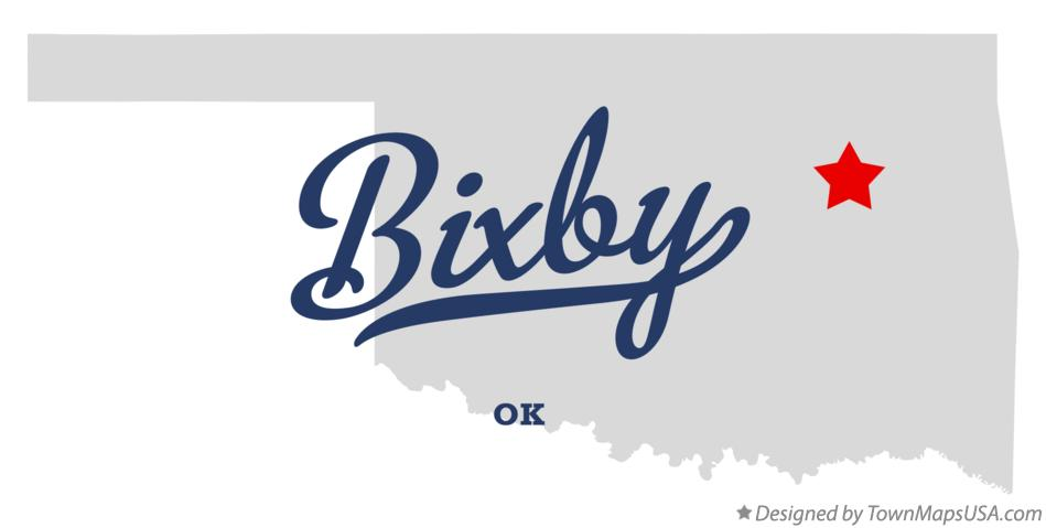 Map of Bixby, OK, Oklahoma