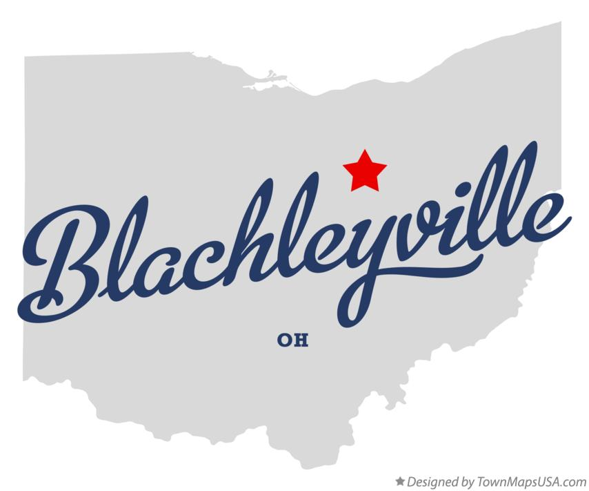 Map of Blachleyville Ohio OH