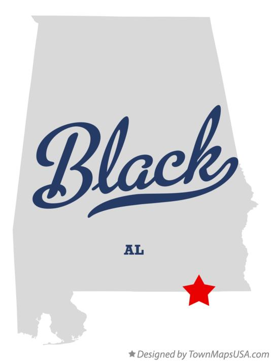 Map of Black Alabama AL
