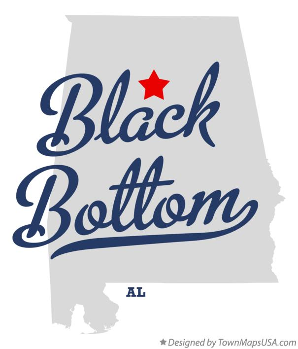 Map of Black Bottom Alabama AL