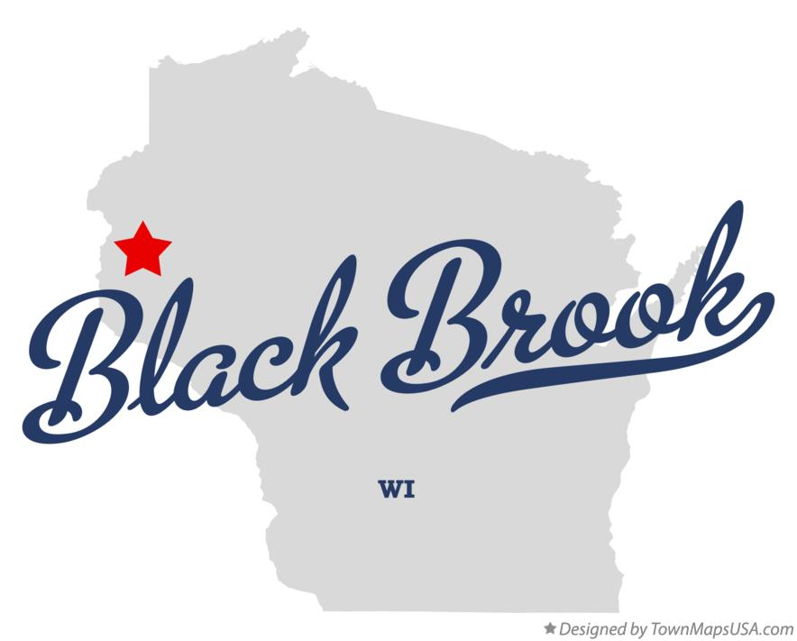 Map of Black Brook Wisconsin WI