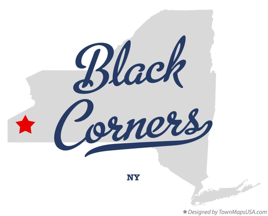 Map of Black Corners New York NY