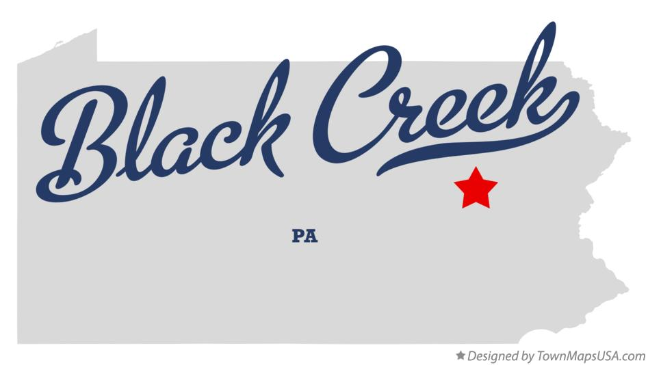 Map of Black Creek Pennsylvania PA
