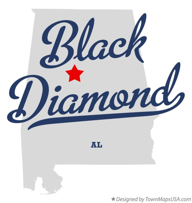 Map of Black Diamond Alabama AL