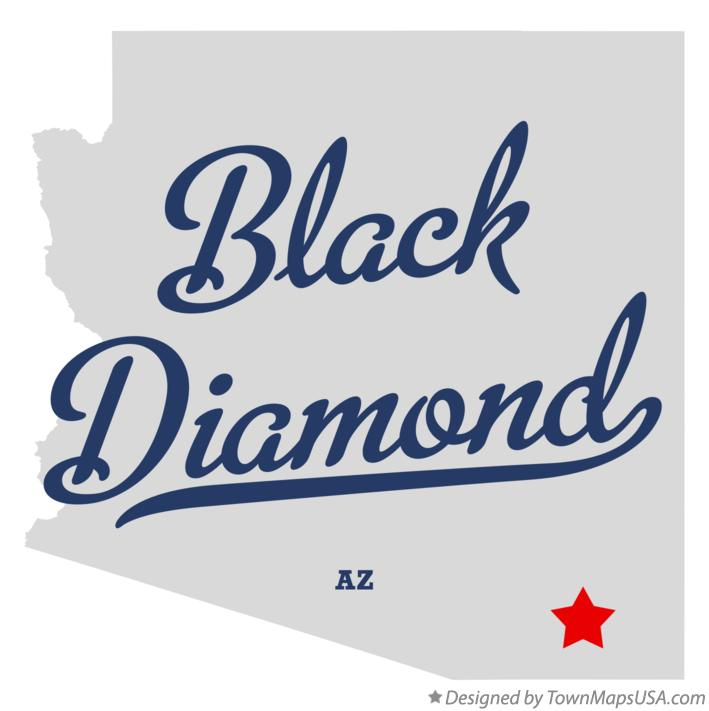 Map of Black Diamond Arizona AZ