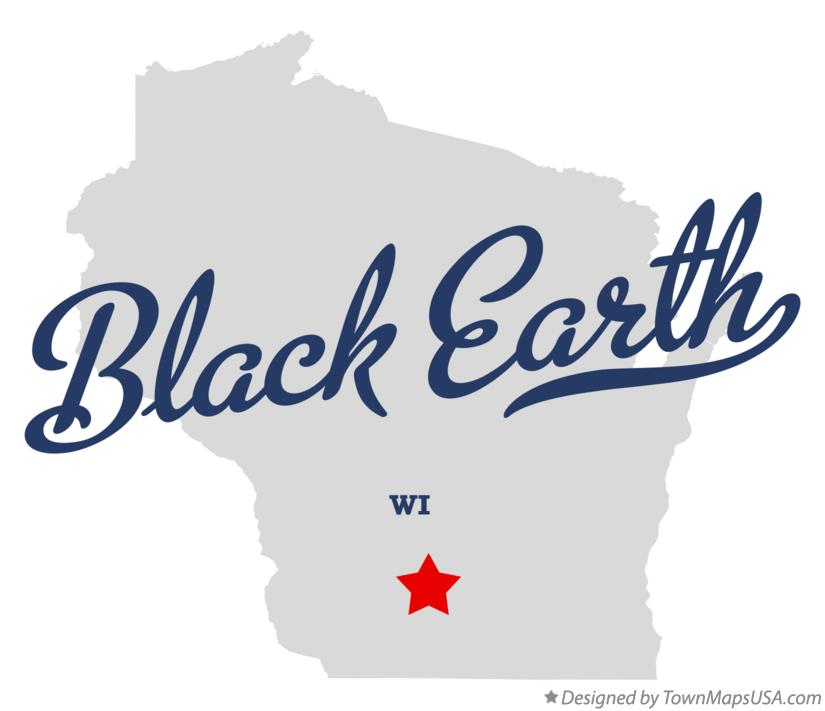 Map of Black Earth Wisconsin WI