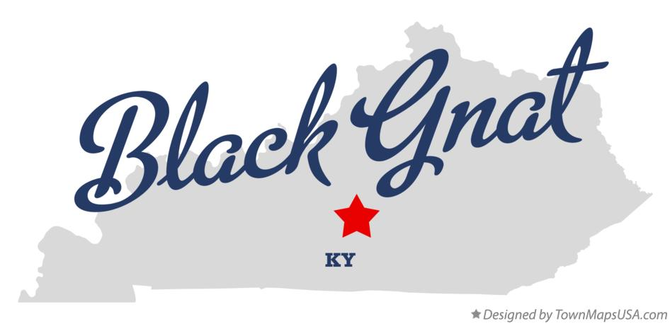 Map of Black Gnat Kentucky KY