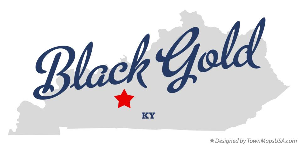 Map of Black Gold Kentucky KY