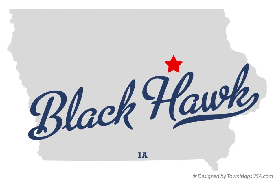Map of Black Hawk Iowa IA