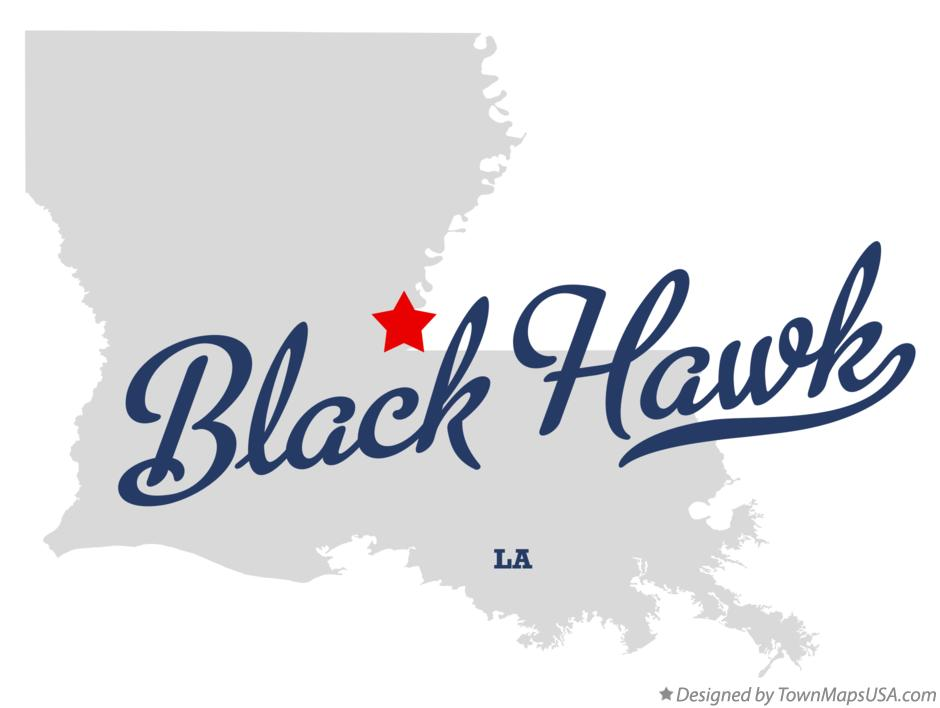 Map of Black Hawk Louisiana LA